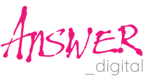 Answer Digital Logo Button